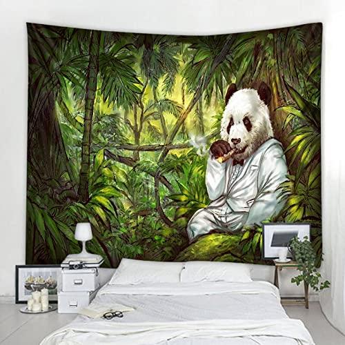 Fantasía Panda decoración tapiz de montaje en pared Mandala bohemio Hippie tapiz manta tela colgante A2 73x95cm
