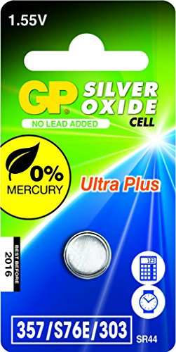 GP Batteries 040UP357C1 Pile de montre 357 SR44W/1,55 V