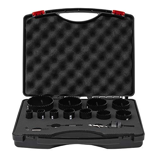 STIER Lochsägen-Set, HSS-Co8 Bimetall, 14-teilig 20, 22, 25, 32, 35, 40, 44, 51, 60, 68 & 76 mm, für Handbohrmaschinen