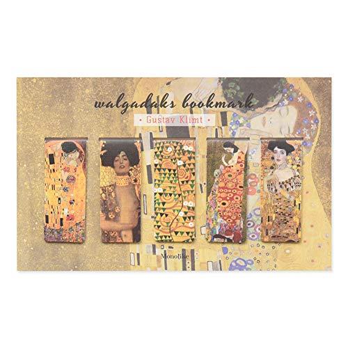 Monolike segnalibri magnetici Klimt, set di 5