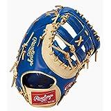ローリングス(Rawlings) 野球用 軟式用 HYPER TECH COLOR GOLD ハイパーテック カラーゴールド[ファーストミット]12.5インチ GRXFHTC3ACD ロイヤル/キャメル 右投用