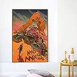 Mad Maxes Fury Road Anime Film Leinwand Poster Drucke