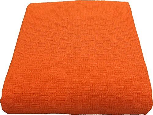 Caleffi Rodeo Tagesdecke für Doppelbett, Orange, 260 x 260 cm.