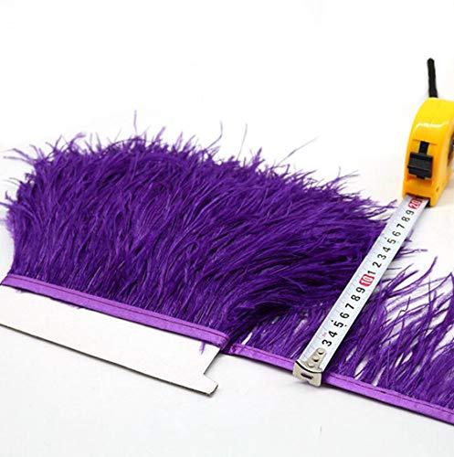 Frangia in piume di struzzo, disponibile in 34colori, per modisteria, artigianato e sartoria Viola