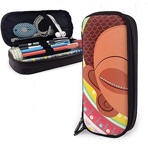Little Monk PU lederen potlood Pen Bag Pouch Case Houder School Office College Coin portemonnee cosmetische make-up tas