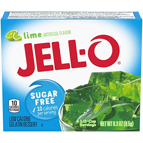 JELL-O Sugar-Free Gelatin Mix, Lime, 6 Count, 1.8 Ounce