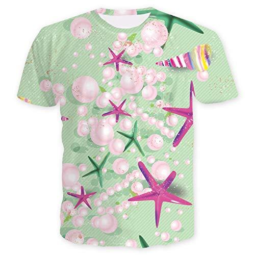 XIAOBAOZITXU T-Shirt 3D Digital Printing Korte Mouwen Ronde hals Mannen En Vrouwen Liefhebbers Kleding Luxe Sieraden Losse Sport Mode Grote Maat T-Shirt