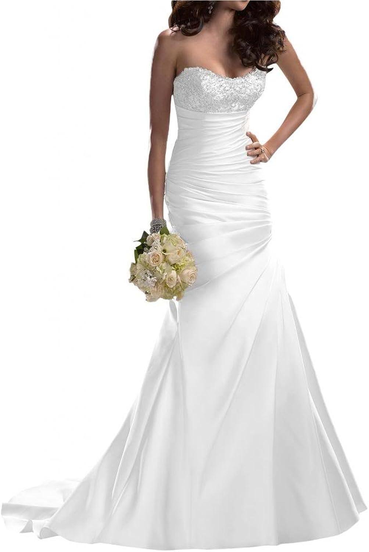 Angel Bride Wedding Dresses New Arrival Dresses Satin Sweetheart Long Dresses