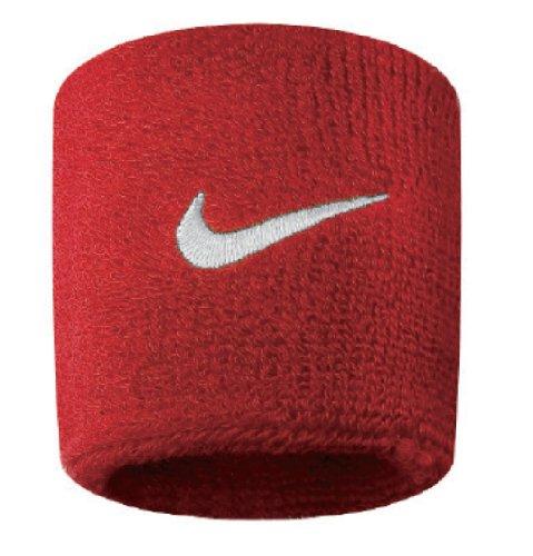 Nike Swoosh, Coppia di Polsini Unisex, Rosso (Varsity Rosso/Bianco), Taglia unica (uomo)