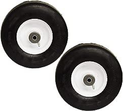 2PK Flat Free Solid Puncture Proof 9x3.5x4 9x3.50-4 9x3.50x4 Tire Wheel Tire Assembly Ferris Snapper 1521181 5021181