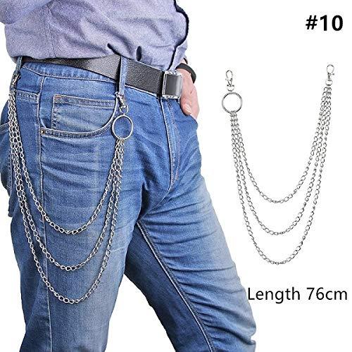 VYZSD 1 stuk lange broek Hipster sleutelhanger Rue Punk grote ring van metaal portemonnee riem ketting sleutelhanger unisex hiphop sieraden
