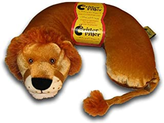 Critter Piller Kid's Travel Buddy and Comfort Pillow, Lion, Hypoallergenic, Machine Washable, Recycled Filling
