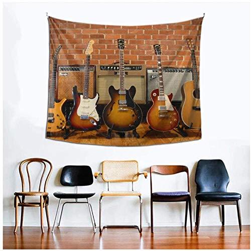 KBIASD Colección de Guitarras tapices Impresos tapices para Colgar en la Pared decoración artística para Sala de Estar Dormitorio 150x130cm