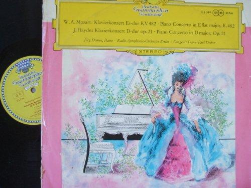 DGG TULIP STEREO- PIANO CONCERTOS- MOZART- K.482- HAYDN OP 21- JORG DEMUS