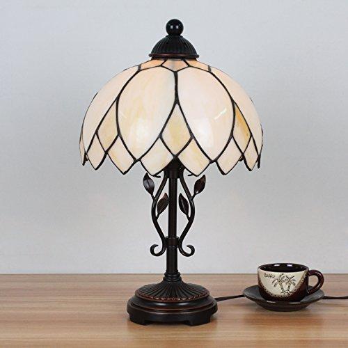 HDO 10 Zoll kreative weiße Pastoral Minimalistische Tiffany Stil Tischlampe Nachttisch Lampe Schreibtisch Lampe Wohnzimmer Bar Lampe