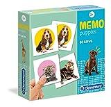 Clementoni - 18078 - Memo Games - Puppies, gioco di memoria e associazione, gioco educativo bambini 3 anni, gioco da tavolo per bambini - Made in Italy