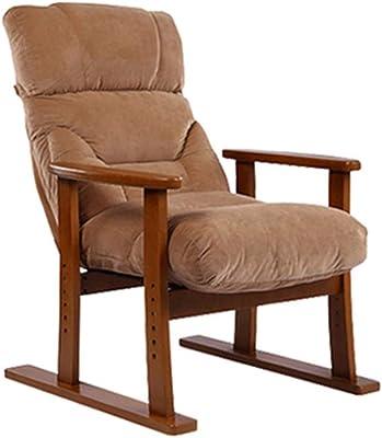 Amazon.com: Silla de salón tapizada de madera gris con tela ...