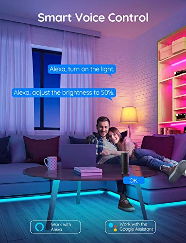 Govee 32.8 Feet Led Strip Lights Work with Alexa and Google Assistant RGB for Room Kitchen 3