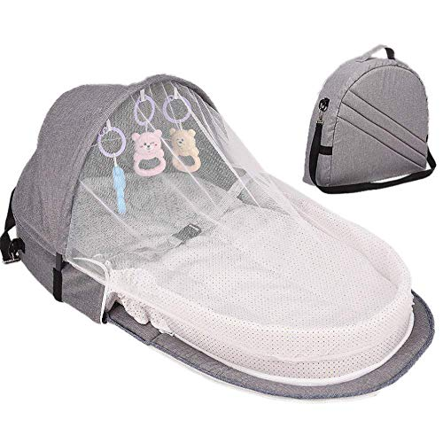 AGKupel Portable Bassinet Foldable Baby Bed Travel Crib Infant Cot Newborn As A Diaper Bag Changing Station Seat Folding Crib Nursery