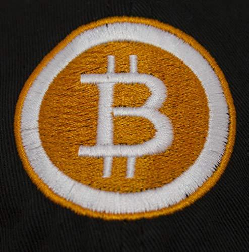 Linda's Gifts Bitcoin Logo Embroidered Adjustable Baseball Cap (Black)