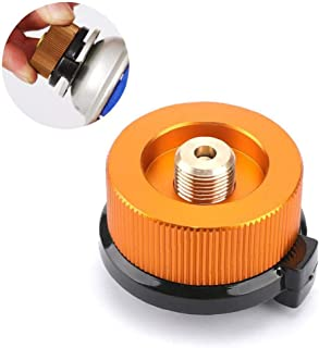 Camping Stove Adapter Stove Connector for Butane Canister Conversion Nozzle Bottle Gas Cartridge Piston Adapter