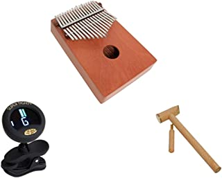 Kalimba Thumb Piano Package Includes: Kalimba Thumb Piano 17 Key - Red Cedar - Hand Percussion + Clip-on Chromatic Tuner + Hammer & Tuner For Kalimba Thumb Piano