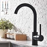 GD Wasserhahn Küche Schwarz Küchenarmatur Mischbatterien Einhebelmischer Armaturen (Niederdruck)