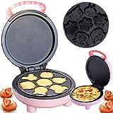 DSMGLRBGZ Crepera, Gofrera Waffle Maker Cacerola No Pegajoso Máquina De Panqueques para Panqueques Pizza Rosquillas Pastel Mollete