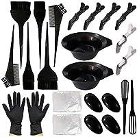 Corrines - Kit de herramientas de tinte para el pelo, para salón de belleza; cuencos para mezclar el color para el pelo, orejeras, cuchara para mezclar, pinzas para el pelo, guantes
