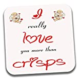 I Love patatine a tema Tea Coffee sottobicchiere–San Valentino/anniversario/regalo di compleanno per lui o lei