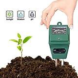 Soil Meter, Soil Water Monitor, Humidity Plant Tester, 3-in-1 Soil Moisture Sensor for Light, PH Level Measurement for Growning Garden, Lawn, Farm, Plants, Flowers, Vegetable, Herbs & More (2 Pack)