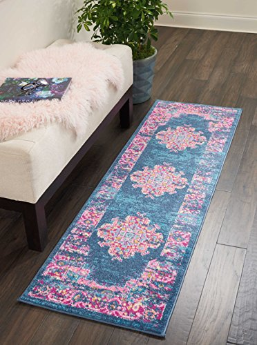 Marca de Amazon - Movian Vacha, alfombra rectangular, 182,9 de largo x 55,9 cm de ancho (diseño geométrico)