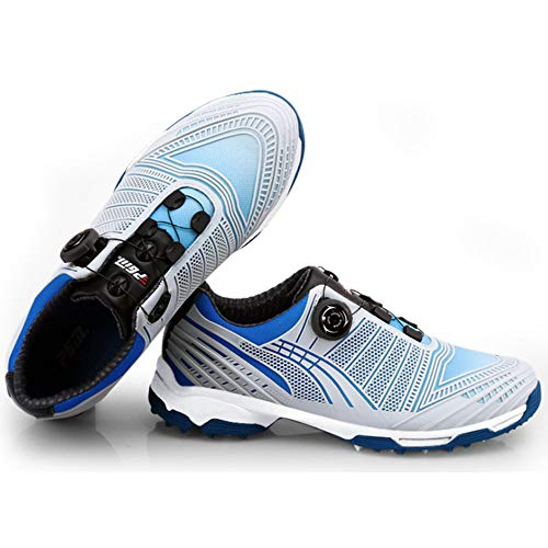 PGM-XZ070 Hombres Zapatos de Golf Impermeable Botón Girar Cordón Antideslizante Calzado Deportivo, color, talla 42 1/3 EU