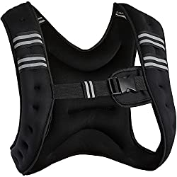 TecTake Weight Vest Running Vest | Universal size | Optimum freedom of movement - various models and weights (5 kg x-style | No. 402634)