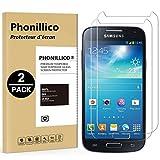 PHONILLICO [Pack de 2] Verre Trempe Samsung Galaxy S4 Mini - GT-I9195 - Film Protection Ecran Verre Trempe Resistant [Lot de 2]...
