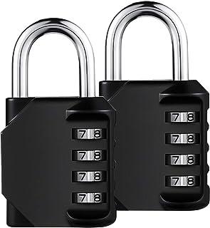KEISL Cerradura combinada,Candado de combinación para trabajo pesado - Negro,82 * 43 * 15mm,Aleación de zinc material
