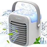 Nertpow Portable Air Conditioner, Portable Cooler, Quick & Easy Way to Cool Personal Space, As Seen On TV, Suitable for Bedside, Office and Study Room. Three Wind Level Adjustment