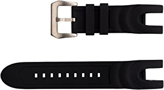 Vicdason for Invicta Reserve Collection Venom Watch Bands Replacement Strap with Bukcle - Black Rubber Silicone Invicta Watch Strap