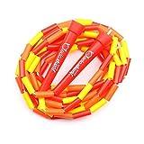 Rope Skipping Bead Kids - Comba para saltar (2,20 m, longitud regulable), color rojo
