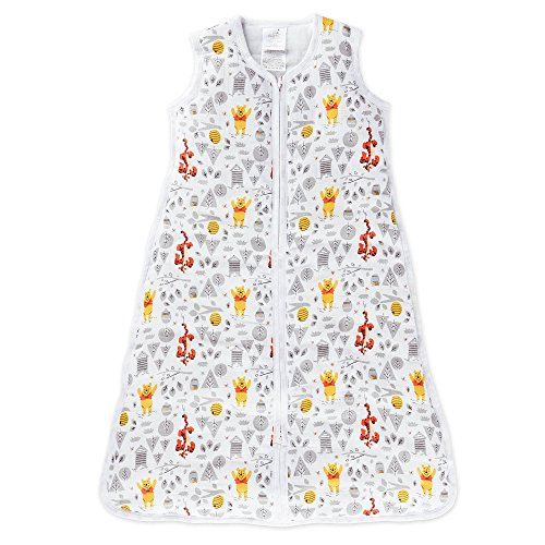 aden by aden + anais gigoteuse cozy plus, mousseline 100% coton et molletonnage 100% polyester, 2.5 TOG, graphic Winnie, medium