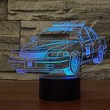 Luz de la Noche del 3D Autos LED Lámpara de Mesa 7 colores Cambiando con el Botón Iluminación Decoración Dormir Lámpara, Regalos Perfectos para Niños cumpleaños
