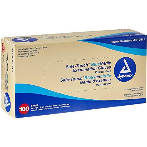 blu confezione da 100 misura media SafeTouch 50000031 Guanti in vinile senza polvere