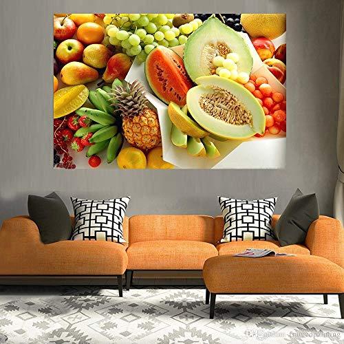 GJQFJBS Creative Art Canvas Oil Painting Printing Poster Fruit Food Canvas Mural Restaurante Cocina Decoración del hogar A3 30x40cm