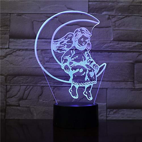 The Moon Angel Bestseller 3D Nachttisch Lampe Dekoration Bright Base LED Nachtlicht Cute Prize Baby