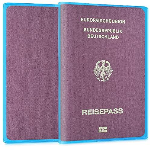 kwmobile 5x Fundas protectoras para pasaporte - Estuche delgado para pasaporte en...