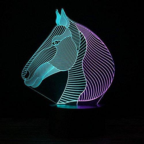 Acrylglas Farbwechsel Tier Pferd nachtlicht Lampe tischlampe Dekoration Kinder Geschenk