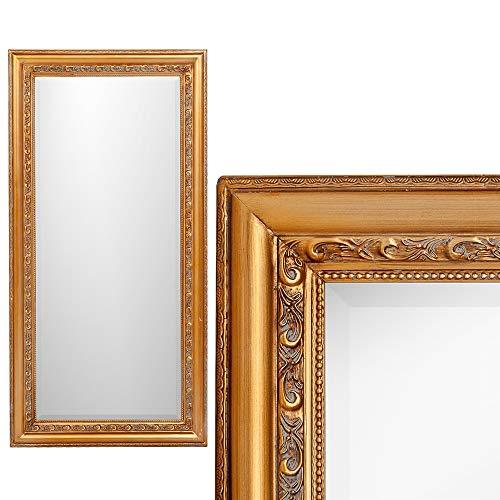 LEBENSwohnART Wandspiegel Argento 70x50cm Gold-Antik Spiegel Barock Holzrahmen Facette