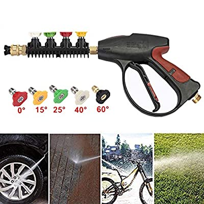 BRAUTO 4000 PSI High Pressure Power Washer Trigger Gun & 5 Nozzles Tips Quick Release by BRAUTO