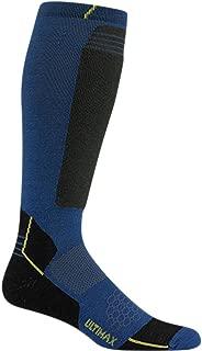 Men's Snow Sirocco Knee High Performance Ski Sock,Medium,Azure Hellion
