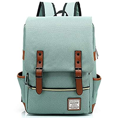 HASAGEI Vintage Backpack Unisex Rucksack Daypack Casual School Travel Laptop Tablet Bags (Green) from FreeMaster